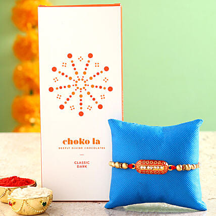 Online Chocolate Bar And Rakhi:Rakhi With Other Gifts