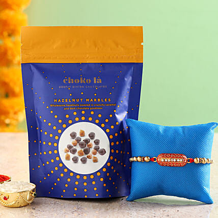 Online Hazelnut Marbles And Rakhi