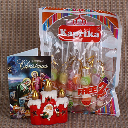 Online Christmas Shadow Candle and Jelly Sticks Combo