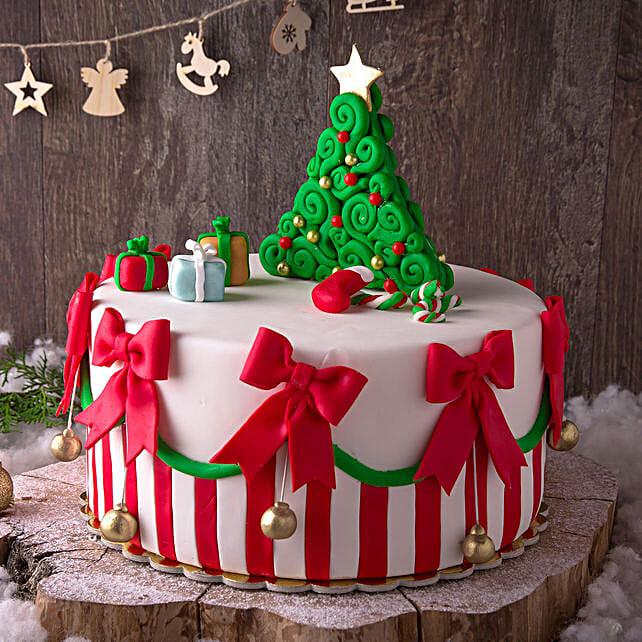 XMAS Theme Truffle Cake:Christmas Cake