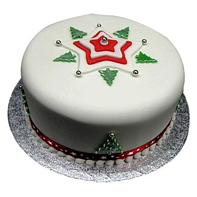 Christmas Tree Cake 2kg Eggless