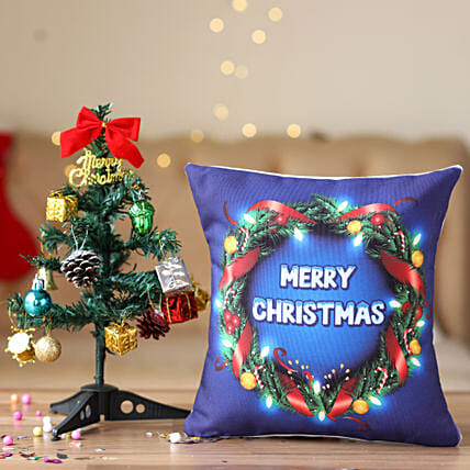 Small Christmas Tree with Cushion Online:Buy Christmas Tree