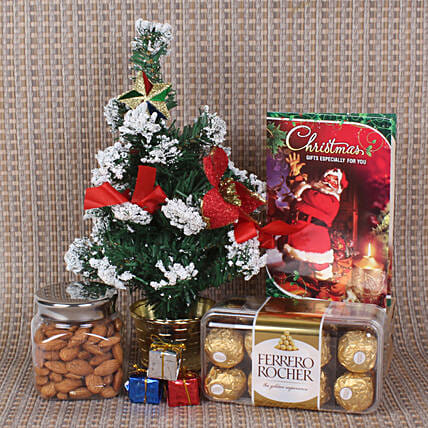 Online Christmas hamper with Chocolate and Almond