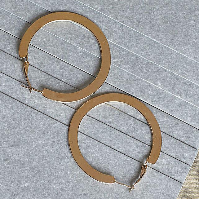 Stylish Flat Hoop Earrings Online