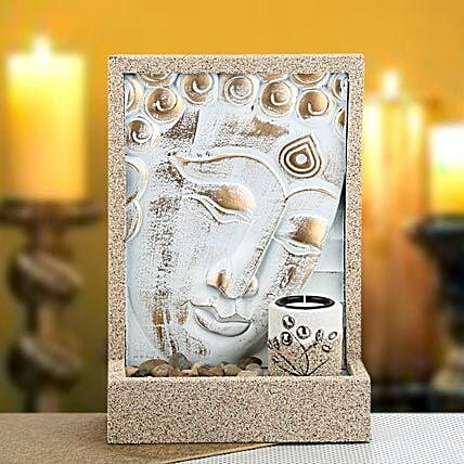Classic Home Decor-Hanging Buddha with candle and stone 11.5 hight and 8 inches width:Gifts for Clients