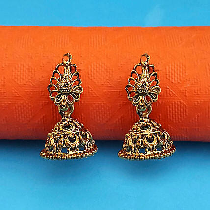 Classic Love Gold Plated Jhumki Earrings