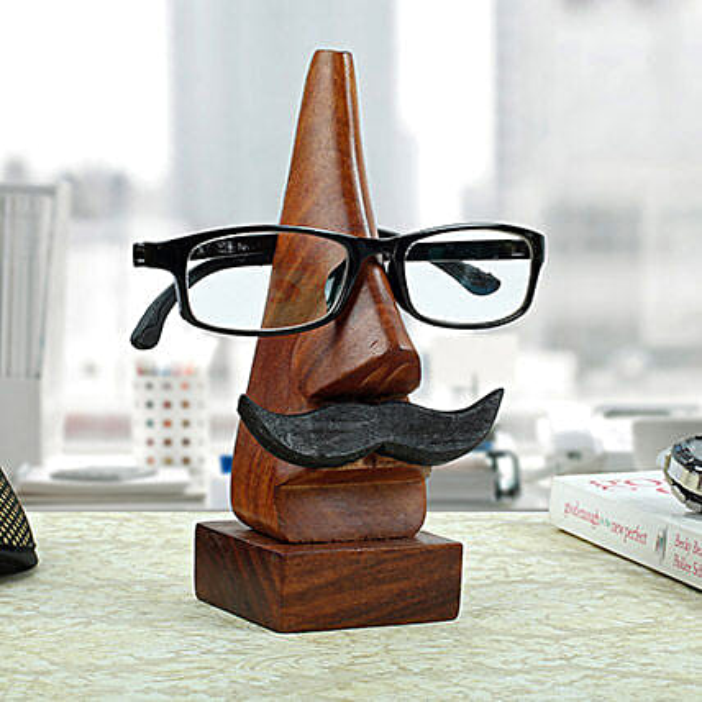 Classic Wooden Eye Glass Holder