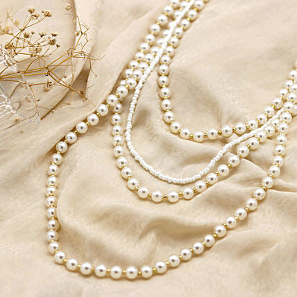 Resplendent Layered Pearl Necklace