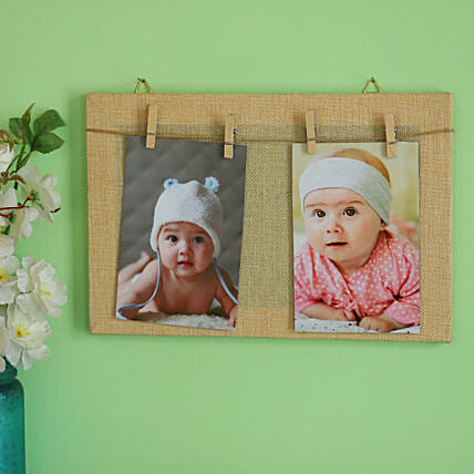 Clip Style Off White Photo Frame
