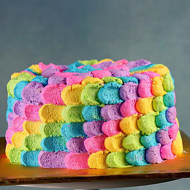 Creamy Designer Rainbow Cake