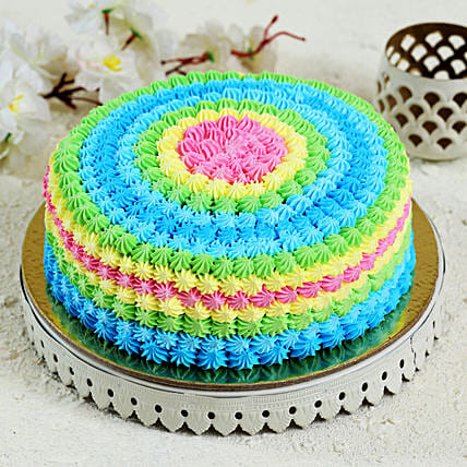 online colourful cake