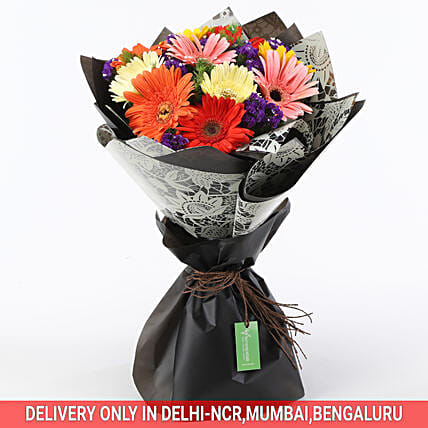 Send Online Colorful Gerbera Bouquet