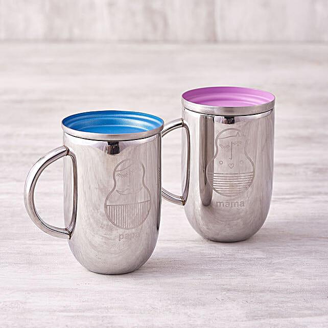 Online Colourful Mugs Set