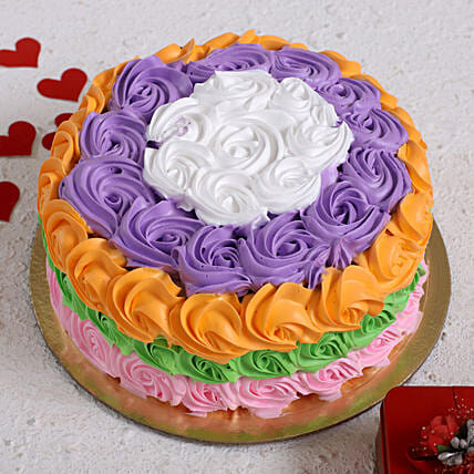 Colourful Roses Designer Cake