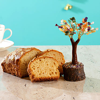 Colourful Stone Wish Tree Almond Dry Cake