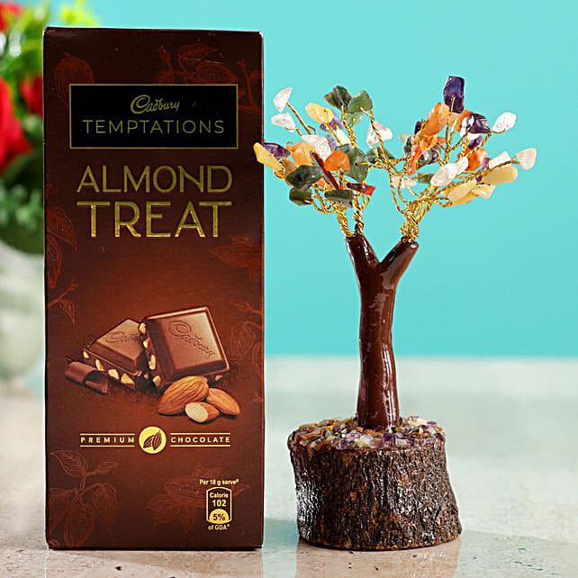 Colourful Stone Wish Tree & Cadbury Almond Treat