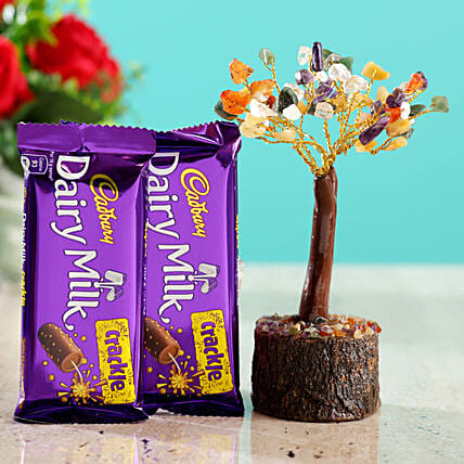 Colourful Stone Wish Tree & Cadbury Crackle