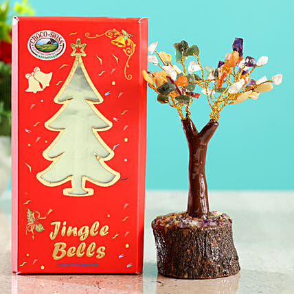 Colourful Stone Wish Tree & Choco Swiss Jingle Bells
