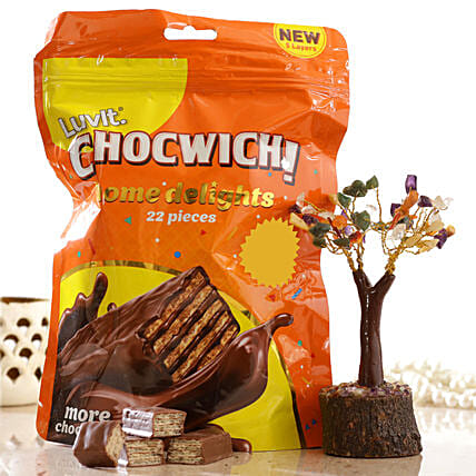 Colourful Wish Tree Luvit Chocwich Minis:Send Valentines Day Wish Trees