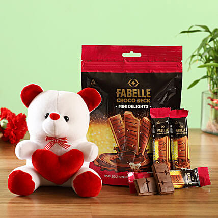 Combo of Fabelle Choco Deck Teddy Bear