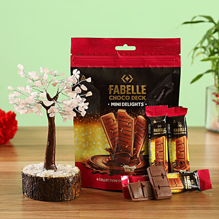 Combo of Fabelle Choco Deck Wish Tree:Raksha Bandhan Soft toys