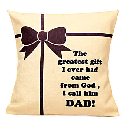 Special Printed Cushion for Great Dad
