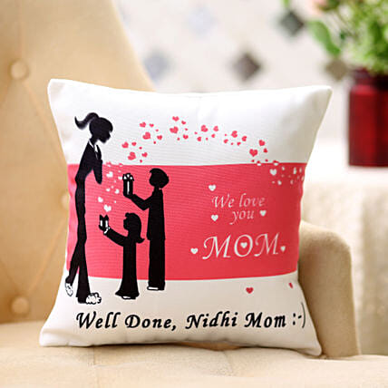 Comforting Personalised-12x12 Cushion For Mom:Home Decor for Birthday