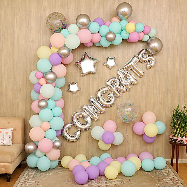 congrats balloon decoration online