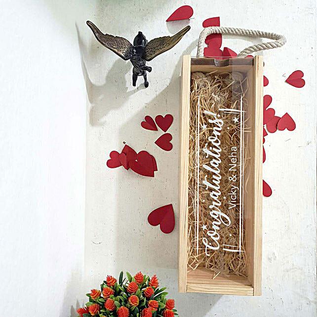 printed congratulations wine box online
