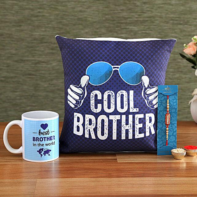 Cool Brother Rakhi Hamper:Send Rakhi with Mugs