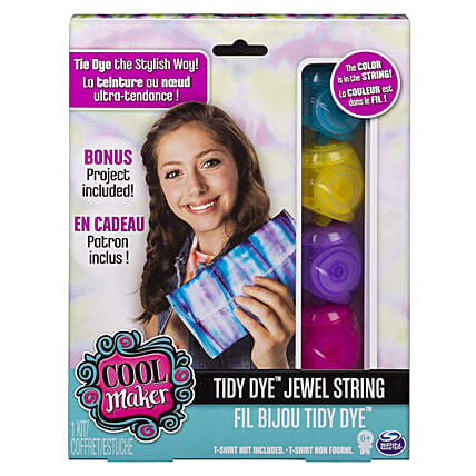 Cool Maker Tidy Dye Jewel String Kit For Fabric Dying