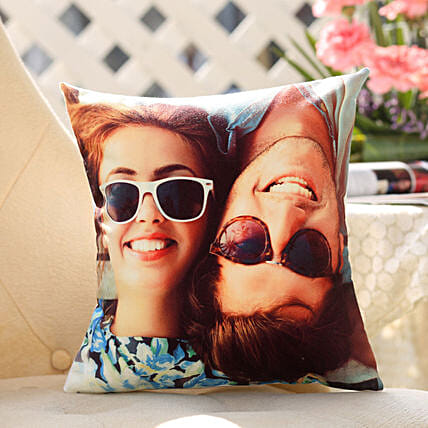 Online Couple Personalised Picture Cushion