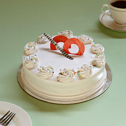 Creamy drop vanilla cake online:Cakes for Happy Friendship Day
