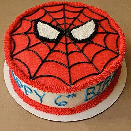 Spiderman Mask Birthday Cake Half kg:Cartoon Cakes