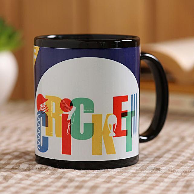 online printed black mug