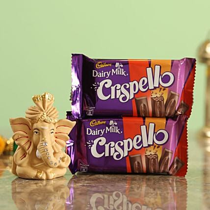 Crispello Chocolate Beige Ganesha Idol