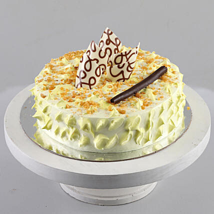 Delicious curnchy butterscotch cake online:Birthday Cakes
