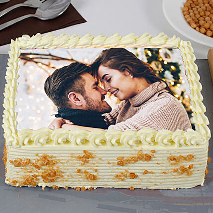 Butterscotch Personalised Photo Cake:Photo Cakes