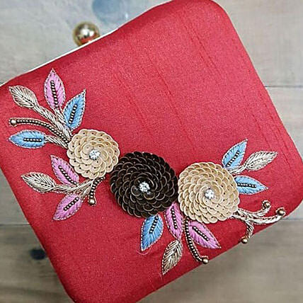 Customised Designer Red Clutch Bag:Handbags and Wallets Gifts