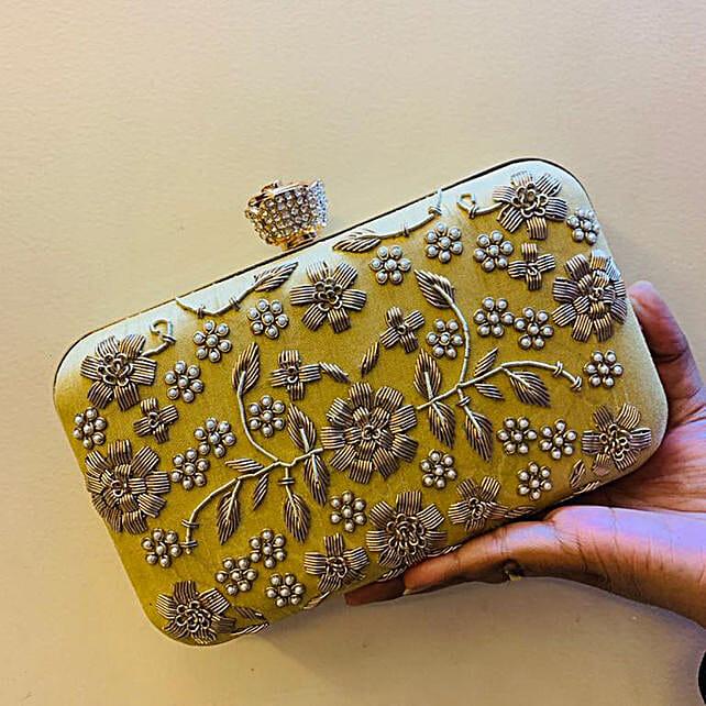 Customised Lemon Yellow Clutch Bag:Women's Clutches