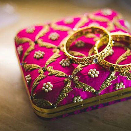 Customised Pink Hand Embroidery Clutch Bag