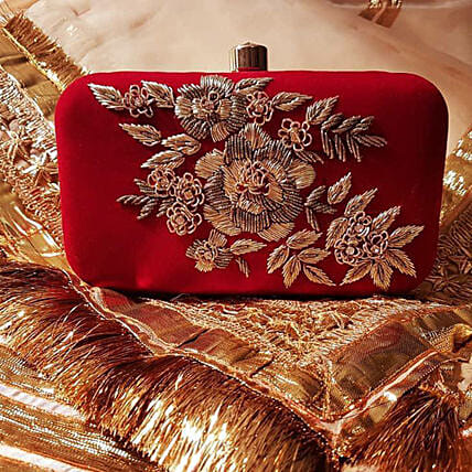 Customised Red Clutch Bag