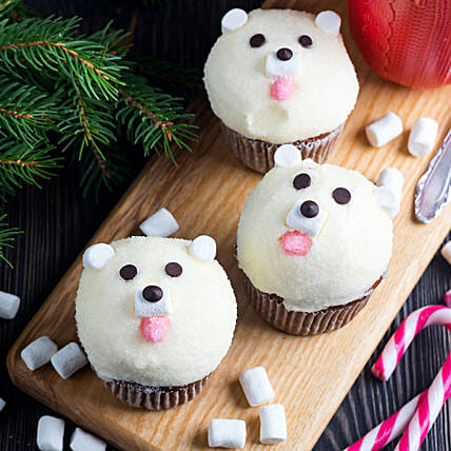 Cute Bear Cup Cake