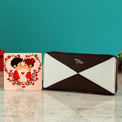 Cute Elegant Sling Bag And Couple Love Table Top:Women's Clutches