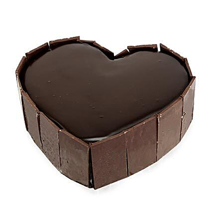 Cute Heart Shape Cake Half kg:Gifts for 10Th Anniversary