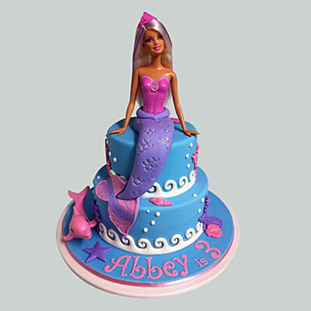 Cute Mermaid Barbie Cake 3kg Eggless