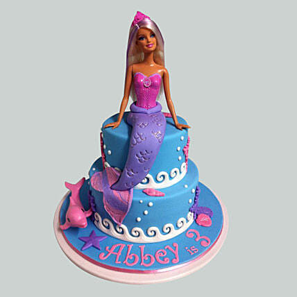 Elsa Mermaid Barbie Cake 2kg