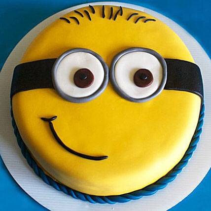 Minion cartoon Cake for Kids 1kg:Minion Cakes