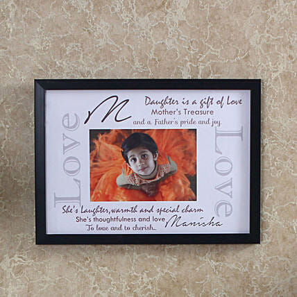 personalized frame for daughter day