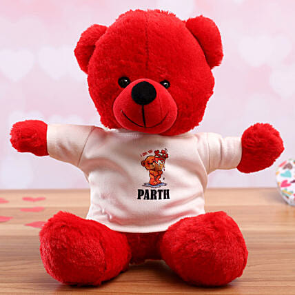 personalised tshirt teddy for her:Valentines Day Soft toys